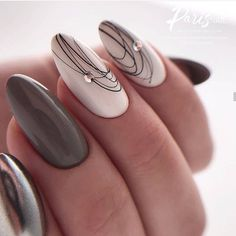 cute nail designs for every nail 34 ~ my.me cute nail designs for every nail . Winter Nail Designs, Cute Nail Designs, Acrylic Nail Designs, Classy Nails, Simple Nails, Nails Kylie Jenner, Nagel Bling, Pointed Nails, Almond Acrylic Nails