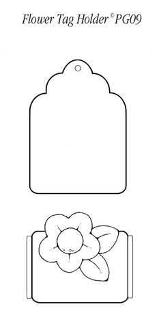 Flower Pocket Tag Template I Made