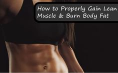 In depth fat burning and muscle building article