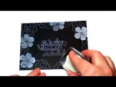 Chalkboard Technique- Stamping With Stace