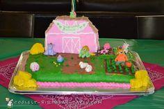 Barnyard Theme Girl Baby Shower Cake... Coolest Birthday Cake Ideas