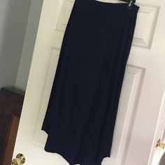 Gap: Navy Blue Hi-low Cotton Skirt Here's the summer skirt you've been looking for!  Good condition, cotton, navy, hi-low skirt. GAP Skirts High Low