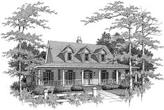 Eplans Low Country House Plan - French Country Style Home Has Courtyard Entry - 2665 Square Feet and 4 Bedrooms(s) from Eplans - House Plan Code HWEPL01932