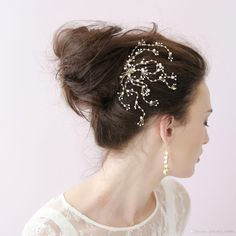 Cheap Vintage Bridal Combs - Discount Crystal Spray Comb Bridal Hair Accessories Combs S Online with $24.09/Piece | DHgate