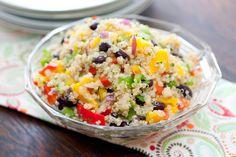 Black Bean Mango Quinoa Salad