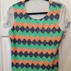 Sequins Shirt Beautiful shimmer top looks great with anything very comfortable jcpenney Tops
