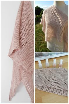 Ravelry: Ardent shawl in (Vi)laines Rêveuses Fing - knitting pattern by Janina Kallio.