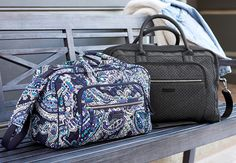 Iconic Compact Weekender Travel Bag in Deep Night Paisley and Iconic Weekender Travel Bag in Denim Navy Whats New, You Bag, Weekender, Travel Bags, Sewing Ideas, Vera Bradley, Compact, Paisley, Addiction