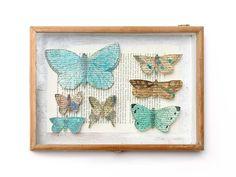 dead words butterflies - original art