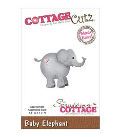 "CottageCutz Die 1.8""X1.3""-Baby Elephant"