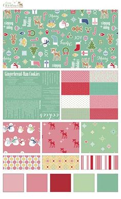 Cozy Christmas fabric line by Lori Holt of Bee In My Bonnet for Riley Blake Designs—Subscribe to our newsletter at http://www.rileyblakedesigns.com/newsletter/
