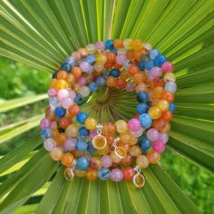 Orange Crystals, Agate Beads, Gemstone Jewelry, Happiness, Gemstones, Awesome, Bracelets, Happy, Crafts