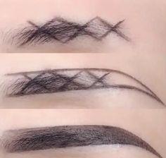 Reticulated eyebrow makeup – – Reticulated Augenbrauen Make-up – – Eyebrow Makeup Tips, Makeup Videos, Skin Makeup, Makeup Hacks, Makeup Eyebrows, Beauty Makeup Tips, Makeup Brush, Eyebrow Tutorial, Perfect Eyebrows Tutorial