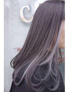 CLAIRE:セピアグレージュ×インナーカラー Pretty Hair Color, Beautiful Hair Color, Hair Color Pink, Kpop Hair Color, Korean Hair Color, Hair Color Streaks, Hair Highlights, Aesthetic Hair, Hair Color For Women