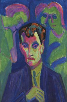Hermann Scherer (1893-1927) was een Duits-Zwitserse schilder van het expressionisme . Tussen 1910 en 1919 werkte hij als steenhouwer. Hij was een autodidact schilder. Niet tevreden vernietigde hij veel van zijn werken. Invloed op zijn artistieke ontwikkeling toen hij een bezoek aan een Munch tentoonstelling bracht en de kennismaking met Kirchner . In 1924, had hij eindelijk de kans om deel te nemen aan de tentoonstelling van recente Duitse kunst met 3 van zijn houten beelden. -Albert Müller