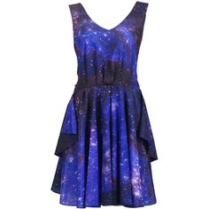 Galaxy Print Dress ($44) ❤ liked on Polyvore