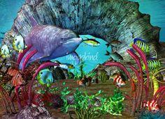 Dolphin Discovery The Caribbean by Renee Lozen, Palm Harbor #3d #dolphins #aquarium #caribbean #dolphin
