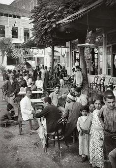 """Café garden in Beirut"" Ottoman Lebanon - Beirut, Now: Lebanese Republic Old Pictures, Old Photos, Vintage Pictures, Lebanon Culture, Lebanon History, Mount Lebanon, Naher Osten, Old Egypt, Egypt Art"