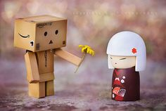 the greatest healing therapy is friendship and love...    I think Danbo has finally found love...and this time she is the right size for him! lol :)