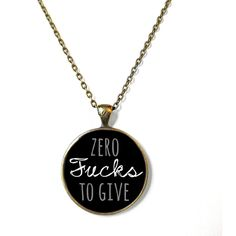 Mature Zero F*cks Necklace, 90s Style Soft Grunge Bubblegum Nu Pastel... ❤ liked on Polyvore featuring jewelry, necklaces, pendant jewelry, pastel necklace, pendants & necklaces, bronze chain necklace and pastel goth jewelry