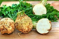 weight-loss efforts a boost with 'negative-calorie' foods With just 18 calories per celeriac is one of the lowest-calorie vegetables around.With just 18 calories per celeriac is one of the lowest-calorie vegetables around. Celeriac Soup, Liquid Meals, Negative Calorie Foods, Celerie Rave, Cream Of Celery, Different Vegetables, Fall Vegetables, Calories, Light Recipes