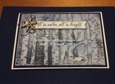 """By Cheryl Algie, inking """"Woodland"""" Textured Impressions Embossing Folder technique ..."""