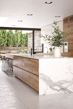 43 The Best Ideas For Neutral Kitchen Design Ideas - Modul Home Design Neutral Kitchen Designs, Kitchen Room Design, Modern Kitchen Design, Home Decor Kitchen, Kitchen Living, Interior Design Kitchen, Interior Modern, Kitchen Ideas, Italian Interior Design