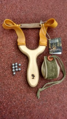 Classic Birch Multiplex catapult  with double Theraband gold bands - £20 plus postage - pdbushcraft@yahoo.co.uk
