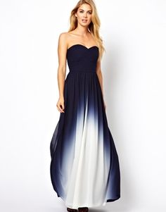 Coast Sheena Maxi Dress in Dip Dye