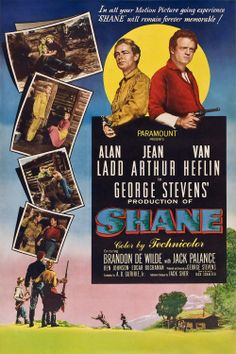 1953 movie posters | Shane (1953) Wallpaper, Movie Wallpaper, Poster
