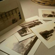 Old post cards restored into these Note Cards.  Great gift as stationery or gift for yourself.
