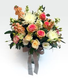 #Vintage_Love -  Buy a vintage love Stunning #vase arrangement of romantic seasonal blooms in shades of white, dusty pinks and cream with complimenting foliage. Available in large and medium size. Fast  delivery in perth at affordable price. http://goo.gl/C6T9d3