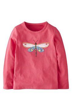 Mini Boden 'Woodland' Appliqué Long Sleeve Tee (Toddler Girls, Little Girls & Big Girls) | Nordstrom