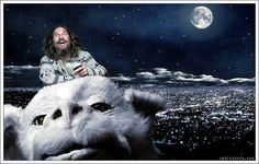 Dude Riding Falcor (Lebowski / Neverending Story) by Rabittooth on deviantART