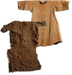 These next two tunics attributed to Saint Francis are most interesting, as they have been the only ones to undergo carbon-14 dating in an attempt to explore their authenticity.  The tunic in front belongs to Santa Croce church in Florence, and the one behind is possessed by the Church of San Francesco on via barrettini in Cortona, Italy.