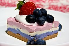 PATRIOTIC CHEESECAKE – Vegan and Gluten Free