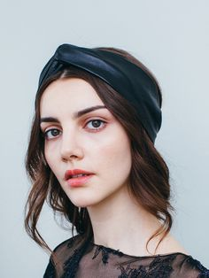Have plans after work? Keep this amazing amazing leather the Jennifer Behr Twisted Leather Headwrap with you to instantly turn your corporate look into a look that is perfect for a night out on the town!