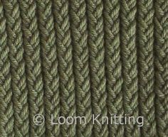 Diagonal Moss Stripe Stitch Worked Using Only Knit And