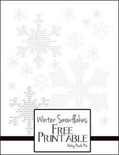 Winter Snowflakes Free Printable