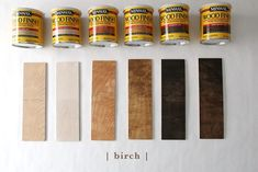 How 6 Different Stains Look On 5 Popular Types of Wood - Chris Loves Julia