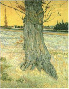 Tronco de un viejo árbol. 1888