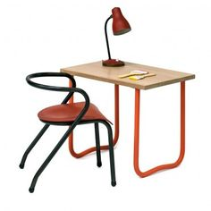 """bureau enfant vintage années 50 """"Argousier"""" #rienacirer #vintage"""