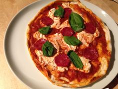 homemade pizza with mascapone