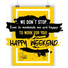 We don´t stop. Even in weekends we are happy to work for you! #HappyWeekend | ¡No paramos! Incluso los fines de semana estamos felices de trabajar para ustedes! #FelizFinDeSemana #instadaily #photooftheday #goodtimes #best