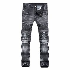 34.22$  Watch now - http://alig6v.shopchina.info/1/go.php?t=32811336102 - Newsosoo Ripped Black Men's Jeans Fashion Holes Men's Jeans Clothing Casual Straight Teenage Jeans Slim Fit Jeans Men Plus Pants 34.22$ #magazine
