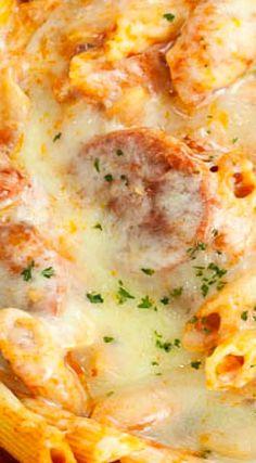 Salami Pasta Bake