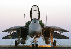 F-14 Being checked over for a flight in southern Iraq