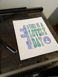 Kurt Vonnegut - Cats Cradle - Two Letterpress Prints - Literature/Quotes - Under 20