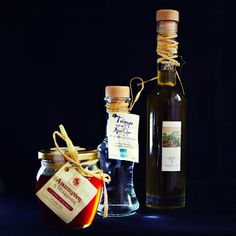 Homemade honey, tsipouro & olive oil - Thessaloniki, Greece Homemade Products, Thessaloniki, Whiskey Bottle, Olive Oil, Greece, Honey, Pure Products, Drinks, Food