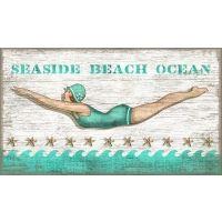 Vintage Diving Girl Sign